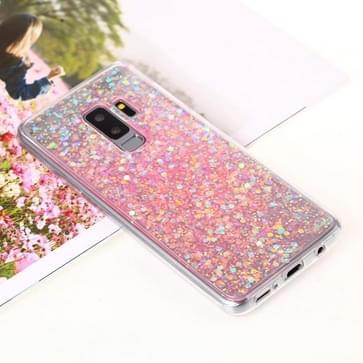 Voor Galaxy S9 PLUS Glitter poeder zachte TPU beschermende Case(Pink)