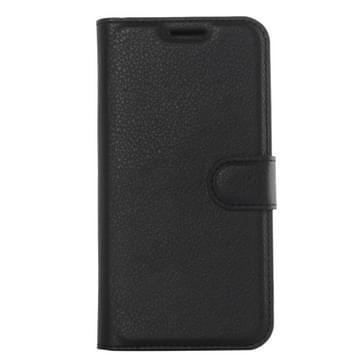 Voor Samsung Galaxy S6 Edge / G925 Litchi structuur horizontaal flip lederen hoesje met houder & opbergruimte voor pinpassen & portemonnee(zwart)