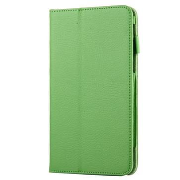 Voor Samsung Galaxy Tab A 7.0 / T280 Litchi structuur magnetische horizontaal flip lederen hoesje met houder(groen)