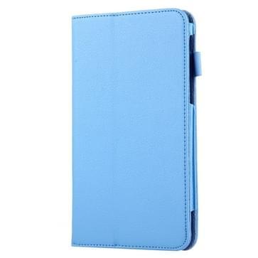 Voor Samsung Galaxy Tab A 7.0 / T280 Litchi structuur magnetische horizontaal flip lederen hoesje met houder(blauw)