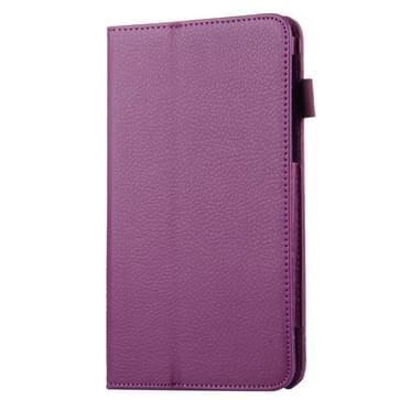 Voor Samsung Galaxy Tab A 7.0 / T280 Litchi structuur magnetische horizontaal flip lederen hoesje met houder(paars)