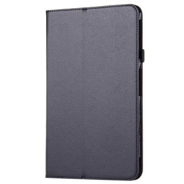 Voor Samsung Galaxy Tab A 10.1 / T580 Litchi structuur magnetische horizontaal flip lederen hoesje met houder(zwart)