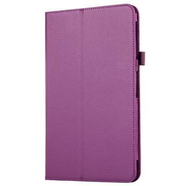 Voor Samsung Galaxy Tab A 10.1 / T580 Litchi structuur magnetische horizontaal flip lederen hoesje met houder(paars)