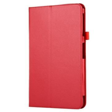 Voor Samsung Galaxy Tab A 10.1 / T580 Litchi structuur magnetische horizontaal flip lederen hoesje met houder(rood)