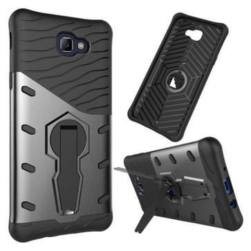 Voor Galaxy J5 Prime & On5(2016) / G570 stootvast 360 graden rotatie harde Armor TPU + PC combinatie Case met Holder(Black)