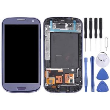 LCD Display (4.65 inch TFT) + aanrakingspaneel met Frame voor Galaxy SIII / i9300 (Pebble Blue)