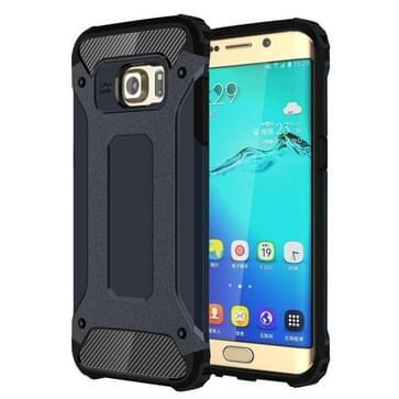 Voor Samsung Galaxy S6 Edge + / G928 harde Armor TPU + PC combinatie hoesje (Marine blauw)
