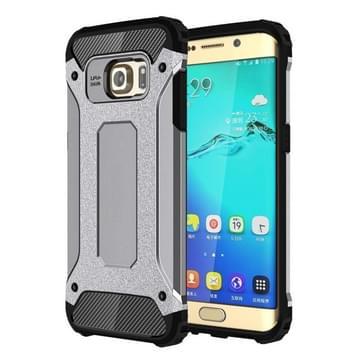 Voor Samsung Galaxy S6 Edge + / G928 harde Armor TPU + PC combinatie hoesje(grijs)