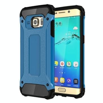 Voor Samsung Galaxy S6 Edge + / G928 harde Armor TPU + PC combinatie hoesje(blauw)