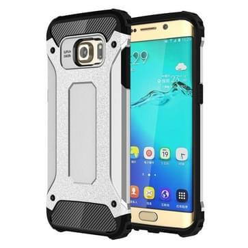 Voor Samsung Galaxy S6 Edge + / G928 harde Armor TPU + PC combinatie hoesje(zilver)