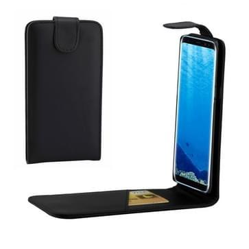 Samsung Galaxy S8 PLUS / G9550 vertikaal PU leren Flip Hoesje met opbergruimte voor pinpassen (zwart)