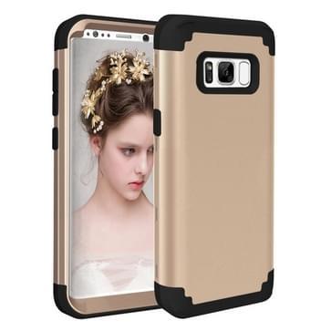Samsung Galaxy S8 PLUS / G9550 Schokbestendig en superstevig 3 in 1 siliconen back cover Hoesje (goudkleurig)