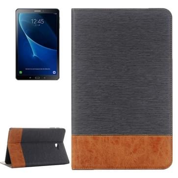 Voor Samsung Galaxy Tab A 10.1 / T580 Kruis structuurhorizontaal Flip lederen hoesje met houder & opbergruimte voor pinpassen & portemonnee(grijs)