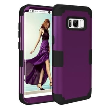 Samsung Galaxy S8 Schokbestendig en superstevig 3 in 1 siliconen back cover Hoesje (bruin)