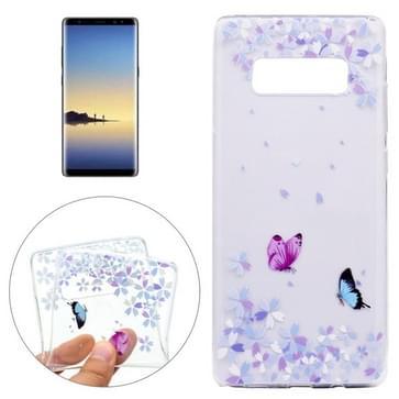 Voor Galaxy Note 8 bonte vlinders patroon TPU beschermende Back Cover Case