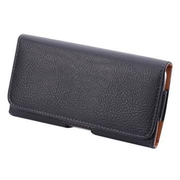 Voor Samsung Galaxy S7 Edge / G935 & S6 Edge / 925 Litchi structuur van taille tas voldaan terug Splint (zwart)