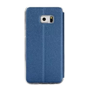 Voor Samsung Galaxy S7 / G930 horizontaal flip lederen hoesje met houder & Oproepweergave ID(blauw)