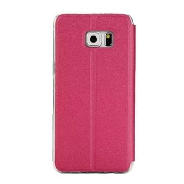 Voor Samsung Galaxy S7 / G930 horizontaal flip lederen hoesje met houder & Oproepweergave ID(hard roze)