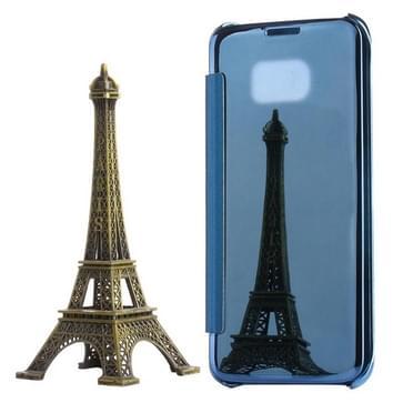Voor Samsung Galaxy S7 Edge / G935 galvaniseren spiegel horizontaal flip PC + PU lederen hoesje (blauw)
