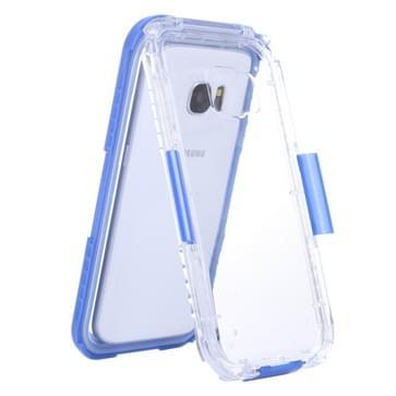 Samsung Galaxy S7 / G930 beschermend IPX8 waterdicht Siliconen + kunststof Hoesje met draagriem (blauw)