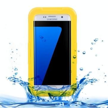 Samsung Galaxy S7 Edge / G935 beschermend IPX8 waterdicht Siliconen + kunststof Hoesje met draagriem (geel)