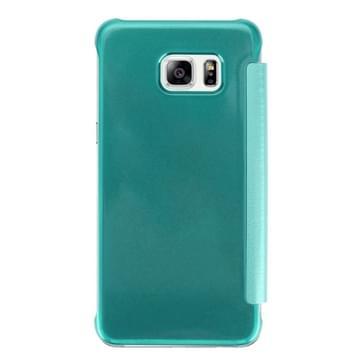 Samsung Galaxy S7 Edge / G935 horizonaal PU leer + kunststof Flip Hoesje met slaap / ontwaak functie (groen)