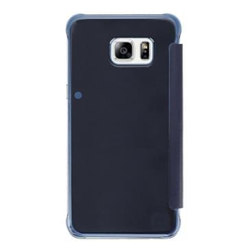 Samsung Galaxy S7 Edge / G935 horizonaal PU leer + kunststof Flip Hoesje met slaap / ontwaak functie (blauw)