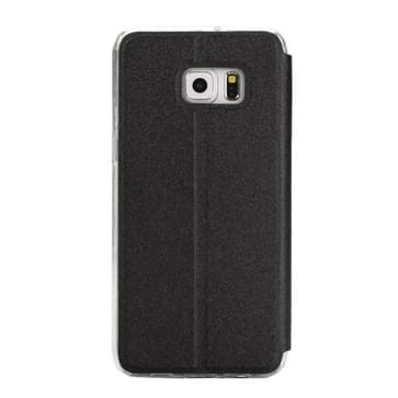 Voor Samsung Galaxy S7 Edge / G935 horizontaal flip lederen hoesje met houder & Oproepweergave ID (zwart)