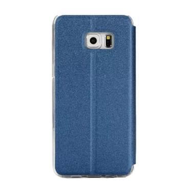 Voor Samsung Galaxy S7 Edge / G935 horizontaal flip lederen hoesje met houder & Oproepweergave ID (blauw)