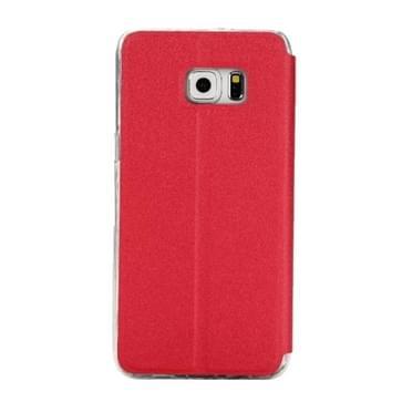 Voor Samsung Galaxy S7 Edge / G935 horizontaal flip lederen hoesje met houder & Oproepweergave ID (rood)