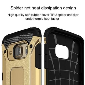 Voor Samsung Galaxy S6 Edge / G925 harde Armor TPU + PC combinatie hoesje (Goud)