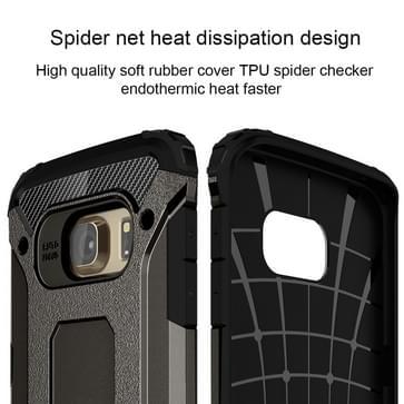 Voor Samsung Galaxy S6 Edge / G925 harde Armor TPU + PC combinatie hoesje (brons)