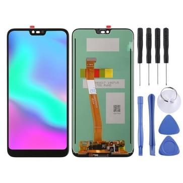LCD-scherm en Digitizer, ter ondersteuning van de fingerprint identificatie voor Huawei Honor 10(Black)