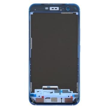 voor HTC U11 Front behuizing LCD Frame Bezel Plate(Blue)