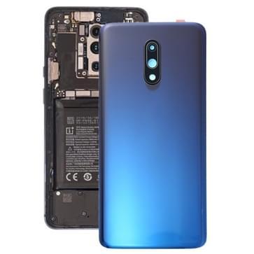 Originele batterij achtercover met camera lens voor OnePlus 7 (blauw)