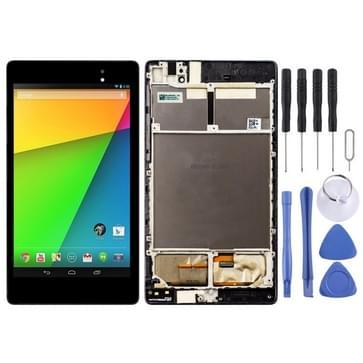 LCD-scherm en digitizer volledige montage met frame voor ASUS Google Nexus 7 2nd 2013 ME571KL (3G versie) (zwart)