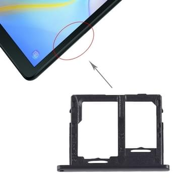 SIM-kaart lade + micro SD-kaart lade voor Galaxy tab een 10 5 inch T595 (4G versie) (zwart)