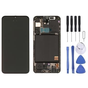LCD-scherm en digitizer volledige montage met frame voor Galaxy A40 SM-A405F (zwart)