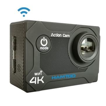 HAMTOD S9 UHD 4K WiFi  Sport Camera with Waterproof Case  Generalplus 4247  2.0 inch LCD Screen  170 Degree Wide Angle Lens (Black)