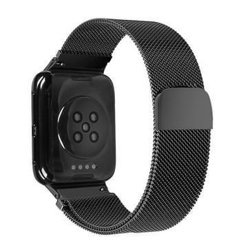 Voor OPPO Watch 41MM Smart Watch Milanese Stainless Steel Metal Strap(Zwart)