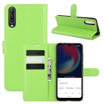 Voor Wiko view 4/ 4 lite Litchi Texture Horizontale Flip Protective Case met Holder & Card Slots & Wallet(Groen)