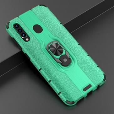 Voor Samsung Galaxy A50 Schokbestendige PC + TPU-hoesje met ringhouder(groen)