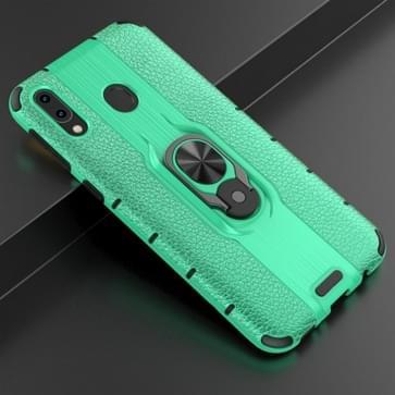 Voor Samsung Galaxy M20 Schokbestendige PC + TPU-hoesje met ringhouder(groen)
