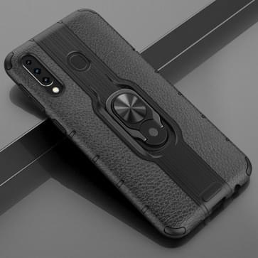 Voor Samsung Galaxy M30 Schokbestendige PC + TPU Case met ringhouder(zwart)