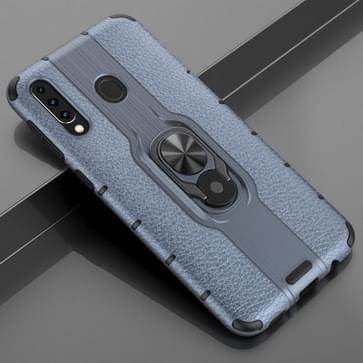 Voor Samsung Galaxy M30 Schokbestendige PC + TPU Case met ringhouder(Navy Blue)