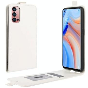 Voor OPPO Reno 4 Pro 5G R64 Texture Single Vertical Flip Leather Protective Case met Card Slots & Photo Frame(Wit)