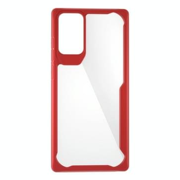 Voor Samsung Galaxy Note 20 Transparante PC + TPU Volledige dekking Schokbestendige beschermhoes (rood)
