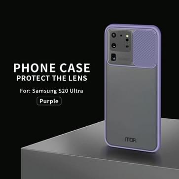 Voor Samsung Galaxy S20 Ultra MOFI Xing Dun-serie doorschijnende frosted PC + TPU Privacy Anti-glare Shockproof All-inclusive Beschermhoes(Paars)