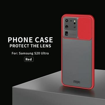 Voor Samsung Galaxy S20 Ultra MOFI Xing Dun-serie doorschijnende frosted PC + TPU Privacy Anti-glare Shockproof All-inclusive Beschermhoes(Rood)