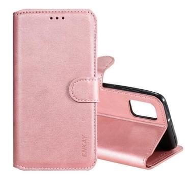 Voor Samsung Galaxy A31 ENKAY Hat-Prince horizontale flip lederen hoes met Holder & Card Slots & Wallet(Pink)
